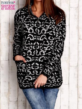 Factory Price Czarny sweter zapinany na suwak